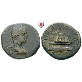 Römische Provinzialprägungen, Kappadokien, Caesarea, Elagabal, Bronze Jahr 3=220 n.Chr., ss