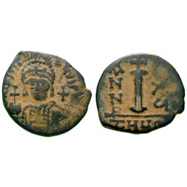Byzanz, Justinian I., Decanummium (10 Nummi) 552-553, Jahr 26, f.ss