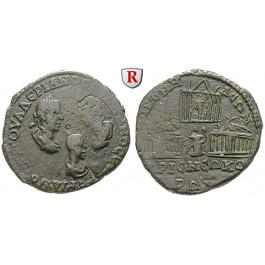 Römische Provinzialprägungen, Bithynien, Nicomedia, Valerianus I., Tetrassaron, ss/ss+