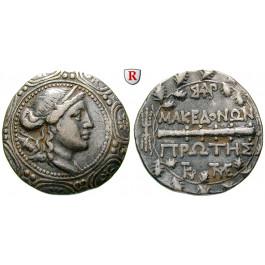 Makedonien-Römische Provinz, Freistaat, Tetradrachme 167-147 v.Chr., ss