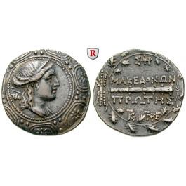Makedonien-Römische Provinz, Freistaat, Tetradrachme 167-147 v.Chr., ss+/ss
