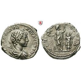 Römische Kaiserzeit, Caracalla, Denar 198, ss+