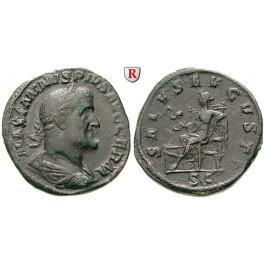 Römische Kaiserzeit, Maximinus I., Sesterz, ss+
