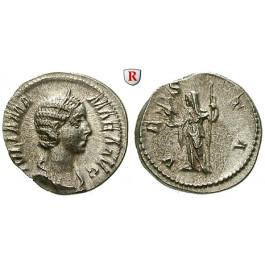 Römische Kaiserzeit, Julia Mamaea, Mutter des Severus Alexander, Denar 226, f.st