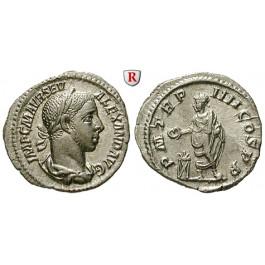 Römische Kaiserzeit, Severus Alexander, Denar 225, vz