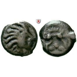 Gallien, Senones, Potin Mitte 1. Jh.v.Chr., ss