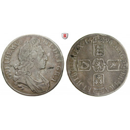 Grossbritannien, William III., Crown 1696, f.ss