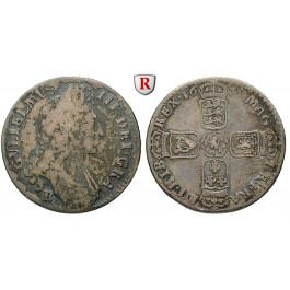 Grossbritannien, William III., Shilling 1697, s+