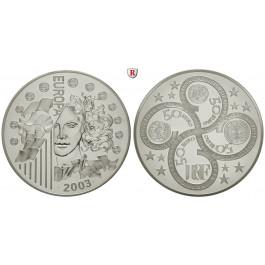 Frankreich, V. Republik, 50 Euro 2003, 925,0 g fein, PP