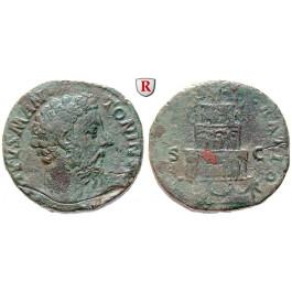 Römische Kaiserzeit, Marcus Aurelius, Sesterz 180, ss