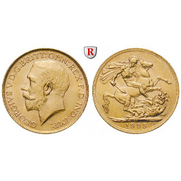 Südafrika, George V., Sovereign 1925, 7,32 g fein, vz