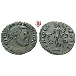 Römische Kaiserzeit, Maximinus II., Caesar, Follis 308, vz