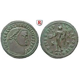 Römische Kaiserzeit, Maximinus II., Follis 311, vz