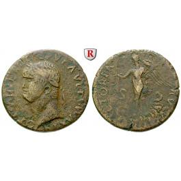 Römische Kaiserzeit, Nero, Dupondius, ss
