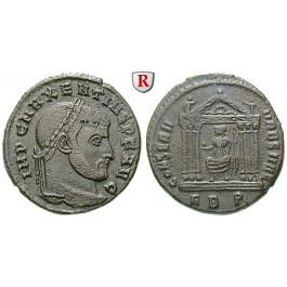 Römische Kaiserzeit, Maxentius, Follis 308-310, ss+
