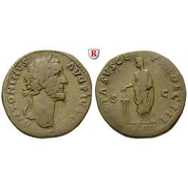Römische Kaiserzeit, Antoninus Pius, Sesterz 158-159, ss