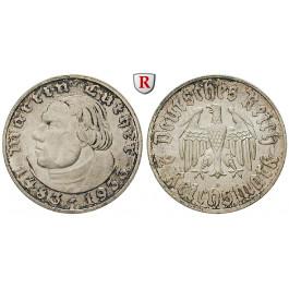 Drittes Reich, 2 Reichsmark 1933, Luther, A, vz/vz-st, J. 352