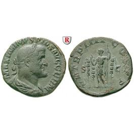 Römische Kaiserzeit, Maximinus I., Sesterz 238, ss