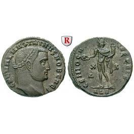 Römische Kaiserzeit, Maximinus II., Caesar, Follis 308, vz-st
