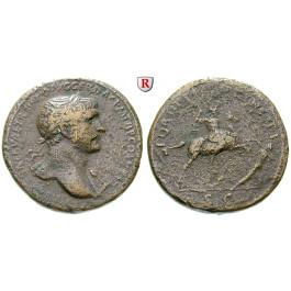 Römische Kaiserzeit, Traianus, Sesterz 103-111, f.ss
