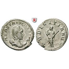 Römische Kaiserzeit, Herennia Etruscilla, Frau des Traianus Decius, Antoninian 249-251, vz+