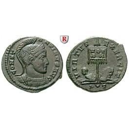 Römische Kaiserzeit, Constantinus I., Follis 319-320, vz-st