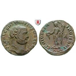 Römische Kaiserzeit, Constantius I., Caesar, Follis 297-298, f.vz