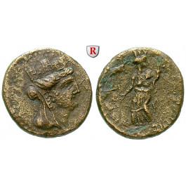 Römische Provinzialprägungen, Phönizien, Dora, Autonome Prägungen, Bronze 2.Hälfte 1.Jh. n.Chr., ss+