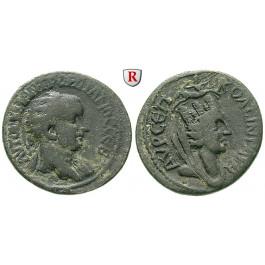 Römische Provinzialprägungen, Mesopotamien, Singara, Gordianus III., Bronze, ss