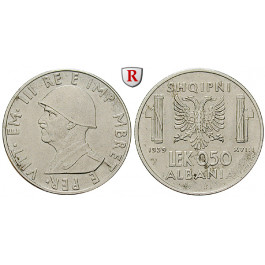 Albanien, Vittorio Emanuele III., 0,5 Lek 1939, vz-st