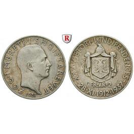 Albanien, Zogu I., 2 Franga Ari 1937, ss+