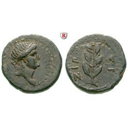 Römische Provinzialprägungen, Seleukis und Pieria, Antiocheia am Orontes, Autonome Prägungen, Bronze Jahr 117 = 68/69, ss