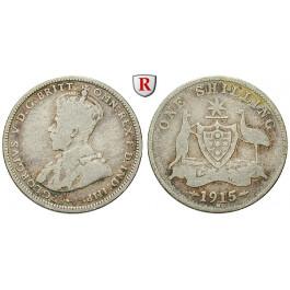 Australien, George V., Shilling 1915, s+
