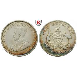 Australien, George V., Shilling 1936, ss
