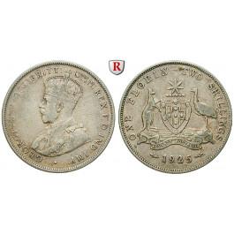 Australien, George V., Florin 1925, ss