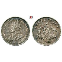 Australien, George V., 3 Pence 1925, ss