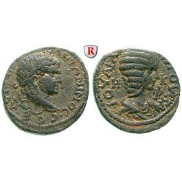 Römische Provinzialprägungen, Seleukis und Pieria, Emesa, Caracalla, Bronze 216-217, ss