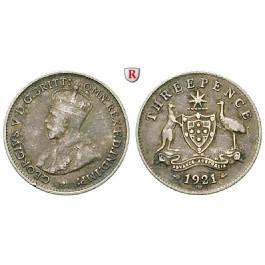 Australien, George V., 3 Pence 1921, ss