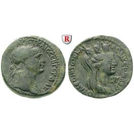 Römische Provinzialprägungen, Seleukis und Pieria, Laodikeia ad mare, Traianus, Bronze Jahr 162 = 114/5 n.Chr., ss-vz