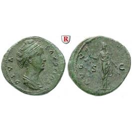 Römische Kaiserzeit, Faustina I., Frau des Antoninus Pius, As nach 141, ss-vz
