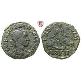 Römische Provinzialprägungen, Thrakien-Donaugebiet, Viminacium, Trebonianus Gallus, Bronze Jahr 12 = 250/1 n.Chr., ss/f.ss