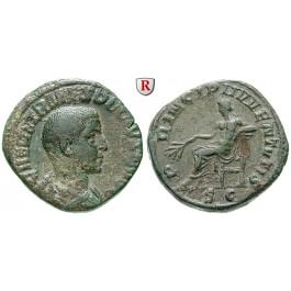 Römische Kaiserzeit, Herennius Etruscus, Caesar, Sesterz, ss-vz