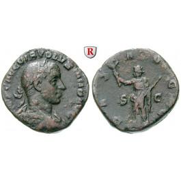 Römische Kaiserzeit, Volusianus, Sesterz, f.ss