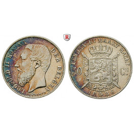 Belgien, Königreich, Leopold II., 50 Centimes 1886, ss+