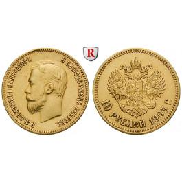 Russland, Nikolaus II., 10 Rubel 1903, 7,74 g fein, ss-vz