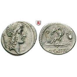 Römische Republik, Q. Cassius Longinus, Denar 55 v.Chr., ss-vz