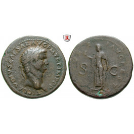Römische Kaiserzeit, Claudius I., Sesterz 79-81, ss