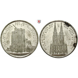 Köln, Stadt, Zinnmedaille 1842, f.vz