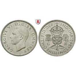 Grossbritannien, George VI., 2 Shilling 1943, prfr.