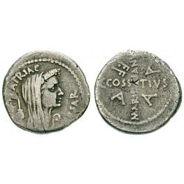Römische Republik, Caius Iulius Caesar, Denar April/Mai 44 v.Chr., ss/f.ss